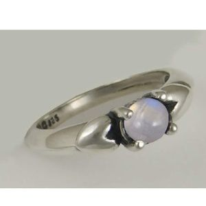 Jewelry - Rainbow moonstone 925 silver ring